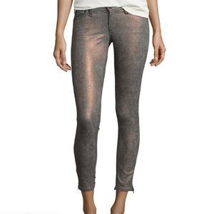 Adriano Goldschmied Ankle Zip Houndstooth Jeans